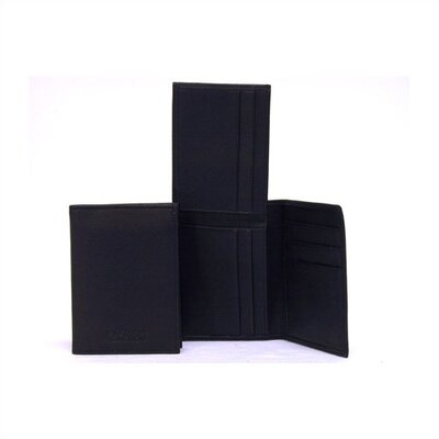 Kenneth Cole Reaction Black Flip-Up Wallet In Keepsake Tray