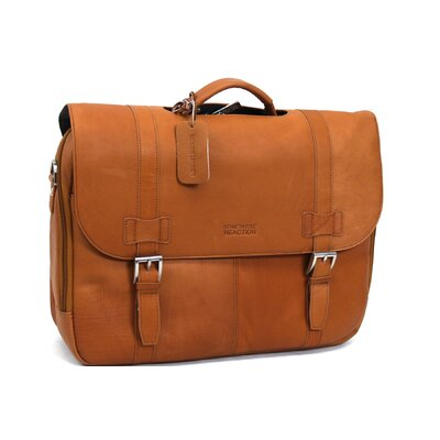 Kenneth Cole Reaction Columbian Leather Laptop Briefcase