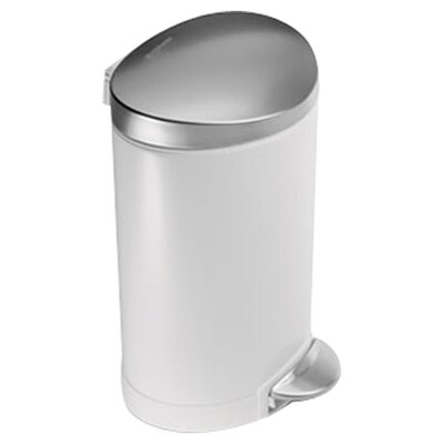 simplehuman 1.6-Gal.  Fingerprint-Proof Mini Semi Round Trash Can