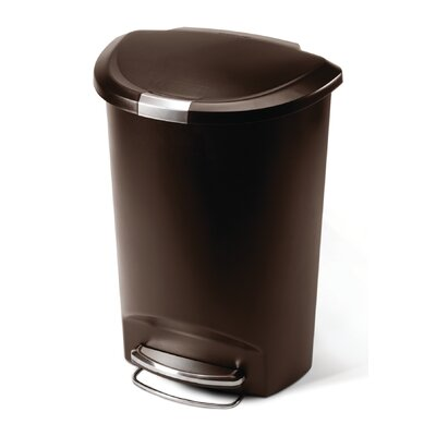 simplehuman 13-Gal. Semi-Round Step Trash Can
