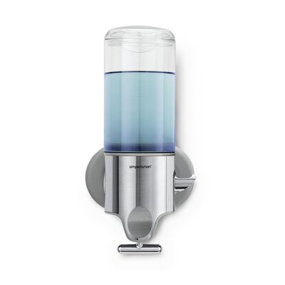 simplehuman Single Wall Mounted Shampoo and Soap Dispenser