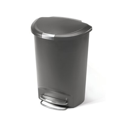 simplehuman Semi-Round Step Trash Can in Grey