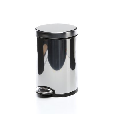 simplehuman Polished Mini Round Step Can