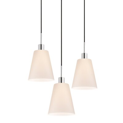 Sonneman 3 Light Tall Cone Pendant