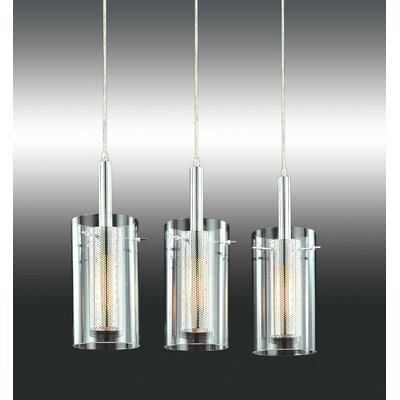 Sonneman Zylinder Contemporary 3 Light Linear Pendant