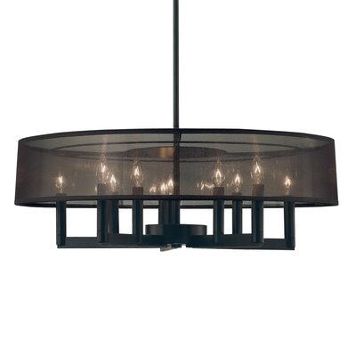 Sonneman Silhouette Ten Light Drum Pendant