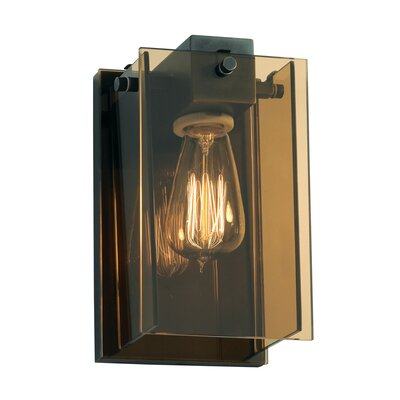 Sonneman Bronze Age One Light Wall Sconce in Black Brass