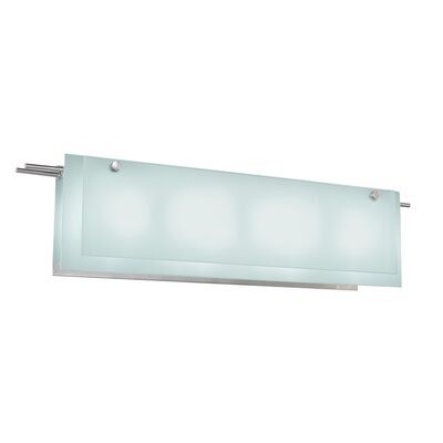 Sonneman Suspended Glass Bath Bar with Etched Glass Shade