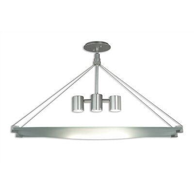 Handkerchief 3 Light Rectangle Foyer Pendant