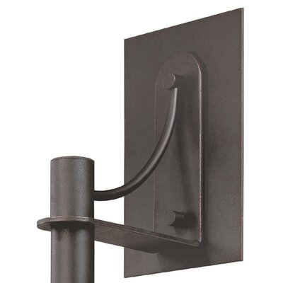 Sonneman Bridge Small Wall Sconce in Textured Rustic Bronze