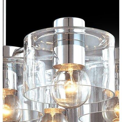 Sonneman Transparence 7 Light Round Pendant