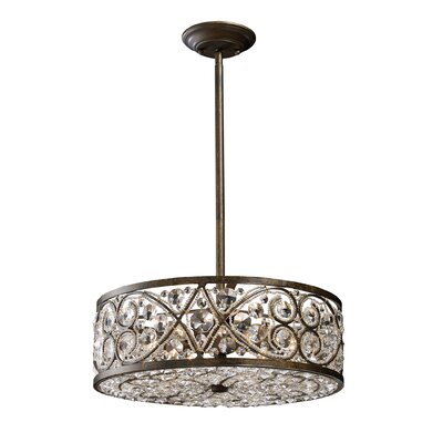 Elk Lighting Amherst 6 Light Drum Pendant
