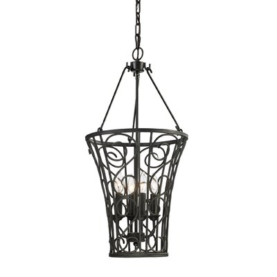 Elk Lighting Santiago 4 Light Foyer Hanging Foyer Pendant