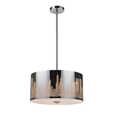 Elk Lighting Skyline 3 Light Drum Pendant