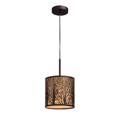 Elk Lighting Woodland Sunrise 1 Light Drum Pendant