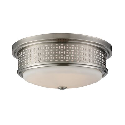 Elk Lighting Flushmounts Two Light Flush Mount in Polished Chrome