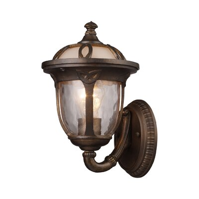 "Elk Lighting Windsor 12"" One Light Outdoor Wall Sconce in Hazelnut Bronze"