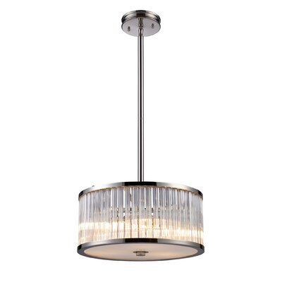 Braxton 3 Light Drum Pendant
