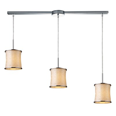 Fabrique 3 Light Linear Drum Pendant
