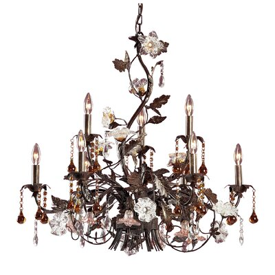 Cristallo Fiore 9 Light Candle Chandelier