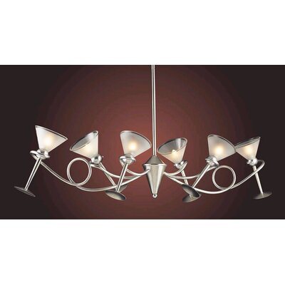 Martini Glass 6 Light Chandelier
