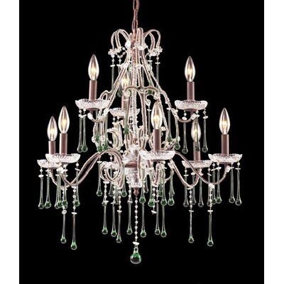 Elk Lighting Opulence 9 Light Candle Chandelier