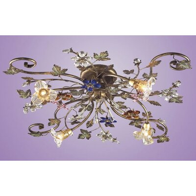 Elk Lighting Brillare 4 Light Semi Flush Mount