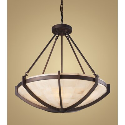 Elk Lighting Spanish Mosaic 6 Light Squared Design Chandelier