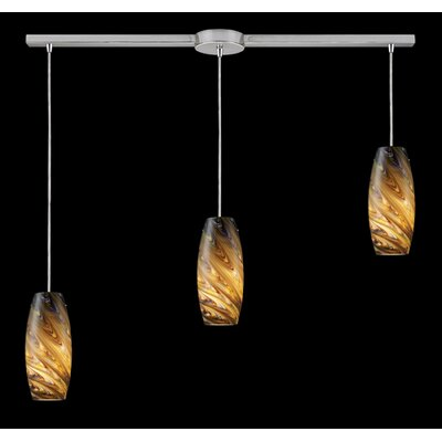 Elk Lighting Vortex 3 Light Linear Pendant