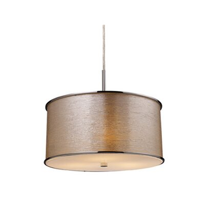 Elk Lighting Fabrique 3 Light Drum Pendant in Polished Chrome