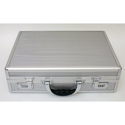 Platt Aluminum Attache Case in Aluminum Finish: 12.25 x 17.25 x 4.5