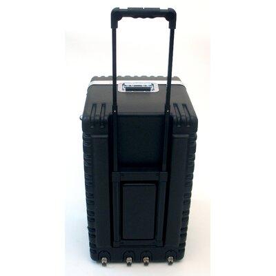 Platt Heavy-Duty ATA Case with Wheels and Telescoping Handle in Black: 16.25 x 27.5 x 19.25