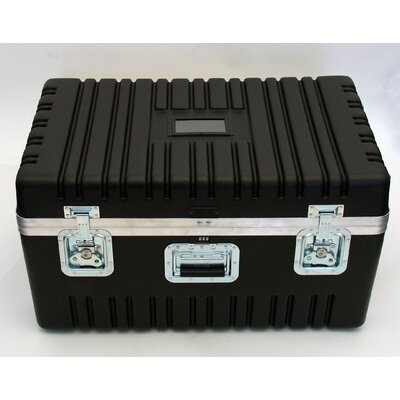 Platt Heavy-Duty ATA Case with Wheels and Telescoping Handle in Black: 19.75 x 32 x 17.5