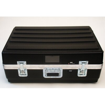 Platt Heavy-Duty ATA Case with Wheels and Telescoping Handle in Black: 23 x 33.25 x 13.75