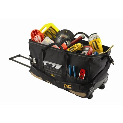 "Platt CLC Tool Bag: 30 Pocket - 24"" Roller Tote Bag: 12"" H x 24"" W x 11"" D"