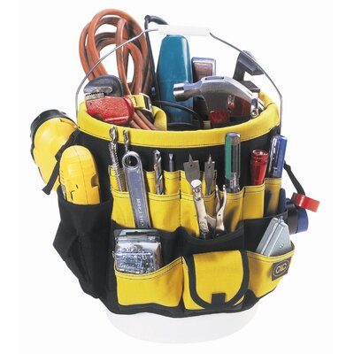 CLC Tool Bag: 61-Pocket- In & Out Bucket Pockets