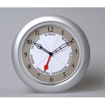 Contemporary Silver DayClock