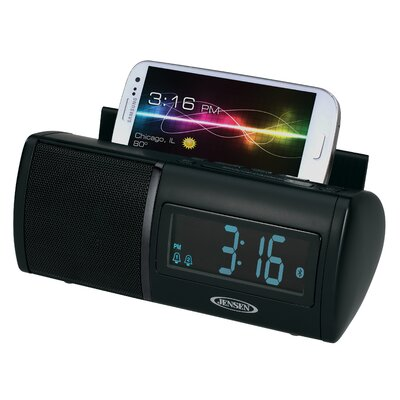 Jensen Universal Bluetooth Clock Radio with Charging