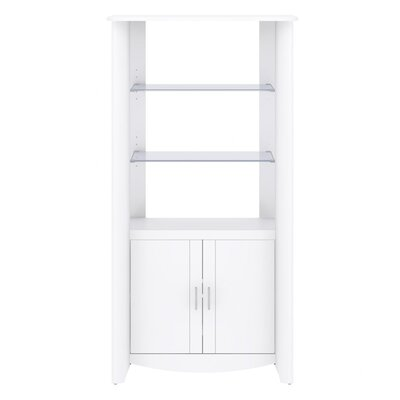 "Bush Industries Aero 31.38"" 2 Door Library Storage Cabinet"