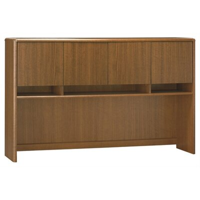 Bush Industries Northfield Credenza Hutch in Dakota Oak
