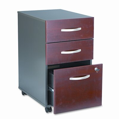 Bush Industries Series C 3-Drawer Mobile Pedestal
