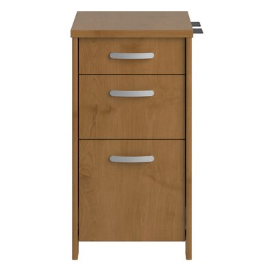 Bush Industries Envoy Three Drawer File Cabinet in Natural Cherry