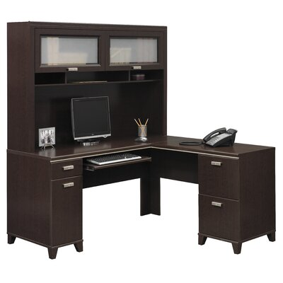 Tuxedo L-Shaped Executive Desk and Hutch