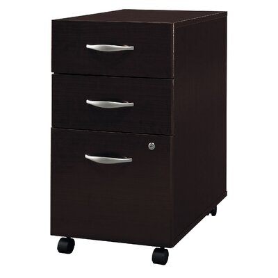 Bush Industries Corsa Series- Mocha Cherry Three-Drawer File (assembled)