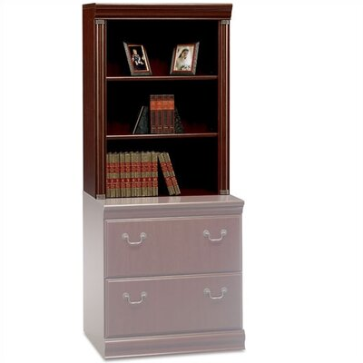"Bush Industries Birmingham Collection Cherry 40.5"" H x 29.5"" W Desk Hutch"