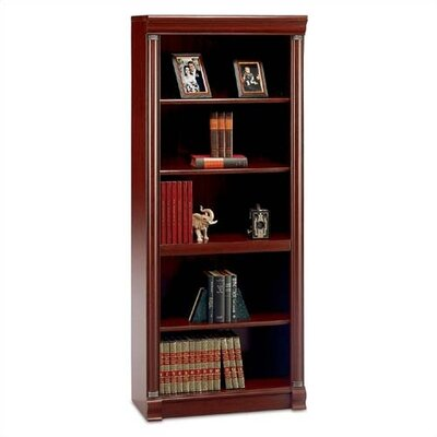 "Bush Industries Birmingham 72"" H Five Shelf Bookcase in Harvest Cherry"