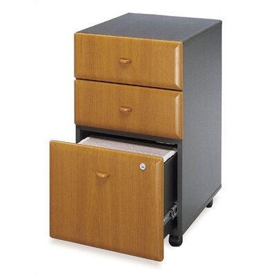 Bush Industries Advantage Series-Medium Cherry Three Drawer File (assembled)
