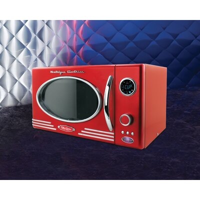 Retro Series 0.9 CF Microwave Oven in Red