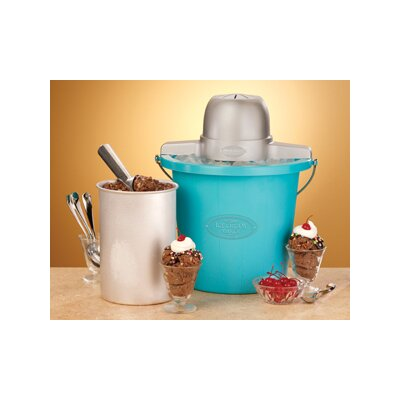 Nostalgia Electrics 4 Quart Plastic Bucket Ice Cream Maker