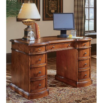 "Hooker Furniture Belle Grove 48"" W Bow Front Knee Hole Computer Desk"